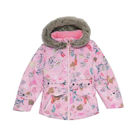 Obermeyer Taiya Jacket - Waterproof, Insulated (For Toddler, Little and Big Girls) in Snowday/Lets - Closeouts