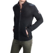 Obermeyer Telluride Cardigan Sweater - Full Zip (For Men) in Black - Closeouts