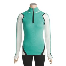 Obermeyer Tess Sweater - Zip Neck (For Women) in Aqua Frost - Closeouts