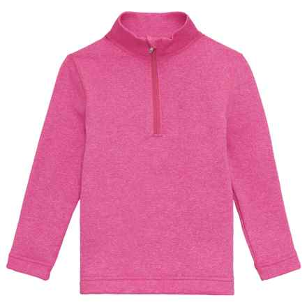 Obermeyer Thermal Elite Shirt - Zip Neck, Long Sleeve (For Kids) in Hot Pink - Closeouts