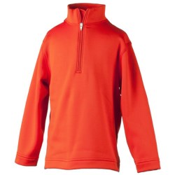 Obermeyer Thermal Fleece Shirt - Zip Neck, Long Sleeve (For Little Girls) in Flame