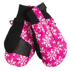 Obermeyer Thumbs Up Mittens - Insulated (For Kids) in 98 Hot Pink Snow Flake Print
