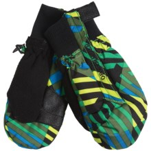 Obermeyer Thumbs Up Mittens - Insulated (For Kids) in Warped Print - Closeouts