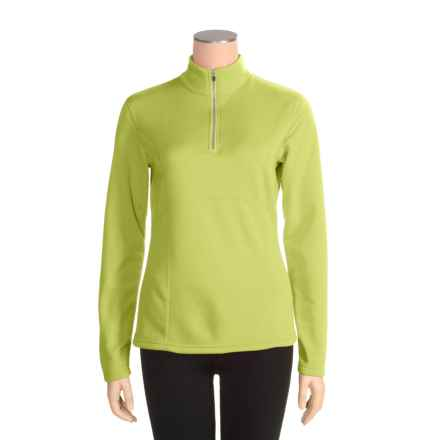 Obermeyer Top II Fleece Pullover Shirt - Zip Neck, Long Sleeve (For Women) in Lemongrass - Closeouts