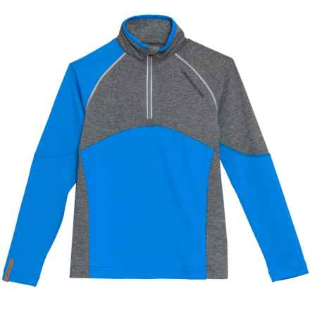 Obermeyer Transport Tech Base Layer Top  - Zip Neck,  Long Sleeve (For Big Boys) in Stellar Blue - Closeouts