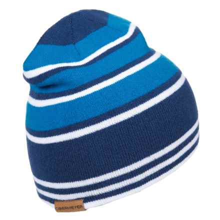 Obermeyer Traverse Knit Hat - Reversible (For Big Boys) in Stellar Blue - Closeouts