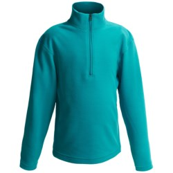 Obermeyer UG 100 Microfleece Pullover - Zip Neck, Long Sleeve (For Boys) in Basalt