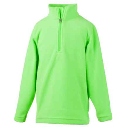 Obermeyer Ultragear 100 Micro Zip-T Fleece Shirt- Zip Neck, Long Sleeve (For Little and Big Kids) in Glowstick - Closeouts