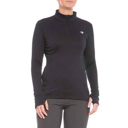 Obermeyer Ultrastretch Fleece Shirt - Zip Neck, Long Sleeve (For Women) in Black - Closeouts