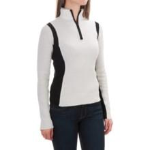 Obermeyer Verbier Ski Cashmere Sweater - Merino Wool-Cashmere, Zip Neck (For Women) in White/Black - Closeouts
