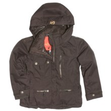Obermeyer Victoria Jacket - Insulated (For Girls) in Peat - Closeouts