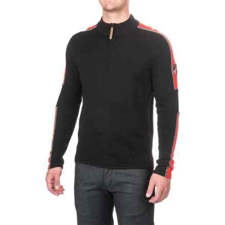 Obermeyer Vista Sweater - Merino Wool, Zip Neck (For Men) in Black - Closeouts