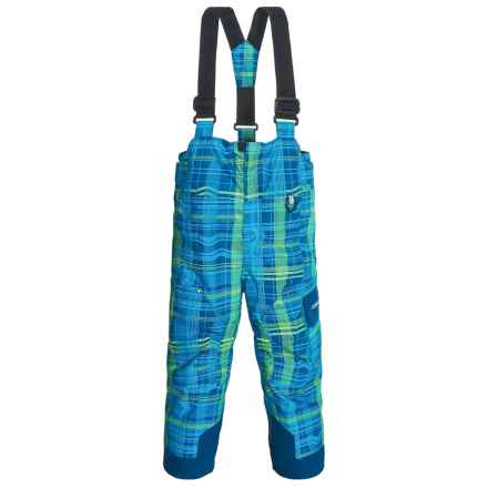 Obermeyer Volt Print Snow Bibs - Insulated (For Toddlers and Little Boys) in Navy/Blue Glow Print - Closeouts