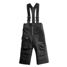 Obermeyer Volt Suspender Snow Pants - Insulated (For Little Boys) in Black - Closeouts