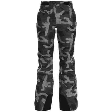 Obermeyer Warrior Ski Pants - Waterproof, Insulated (For Women) in Black/Grey Print - Closeouts