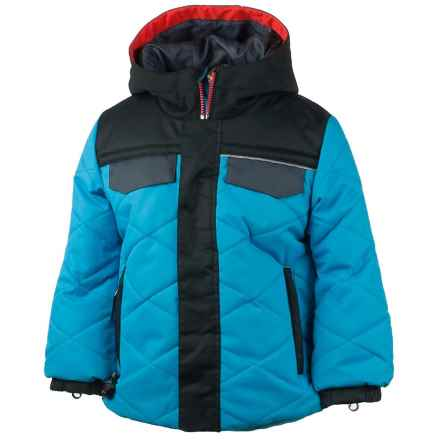 Obermeyer Wildcat Ski Jacket - Waterproof, Insulated (For Toddlers and Little Boys) in Bluebird/Black/Grey - Closeouts