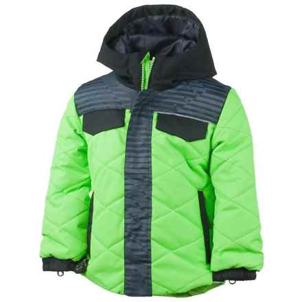Obermeyer Wildcat Ski Jacket - Waterproof, Insulated (For Toddlers and Little Boys) in Glowstick/Black/Grey Print - Closeouts