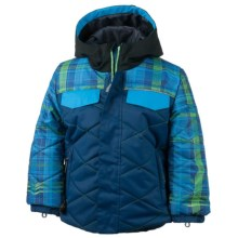 Obermeyer Wildcat Ski Jacket - Waterproof, Insulated (For Toddlers and Little Boys) in Navy/Blue/Green Print - Closeouts