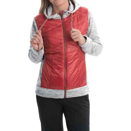 Obermeyer Willow Hybrid Insulator Fleece Jacket - Insulated (For Women) in Garnet - Closeouts
