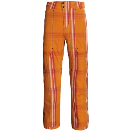 Obermeyer Yukon Snow Pants - Insulated (For Men) in Flame Ombre Plaid