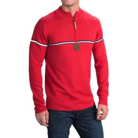 Obermeyer Zurich Sweater - Zip Neck (For Men) in True Red/White/Navy - Closeouts