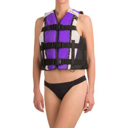 O'Brien 3-Buckle PFD Life Jacket - Type III (For Women) in Purple - Closeouts