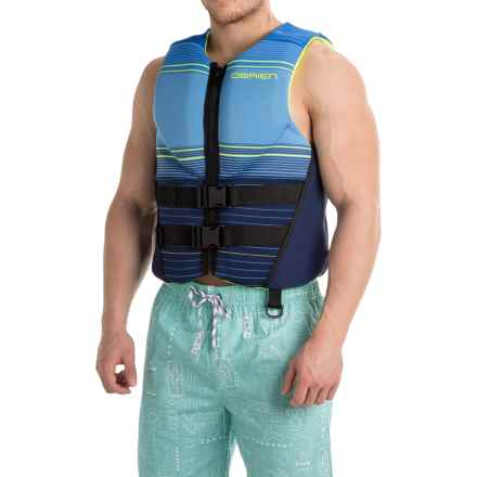 O'Brien Tech Type III PFD Life Jacket (For Men) in Blue/Yellow - Closeouts