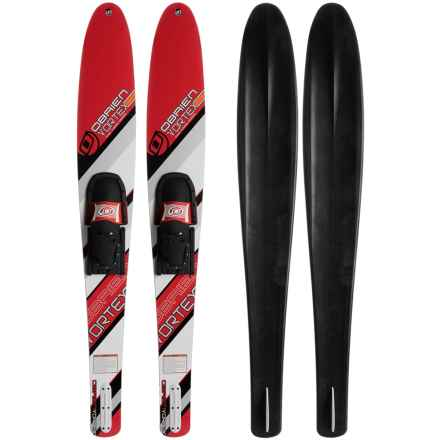 O'Brien Vortex 700 and RT Combo Waterskis in Red - Closeouts