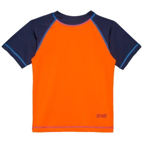 Ocean Gear Solid Rash Guard - UPF 50+, Short Sleeve (For Big Boys) in Orange