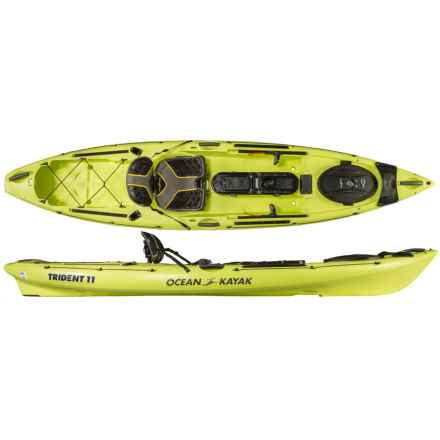 Ocean Kayak Trident 11 Angler Kayak in Lemon - 2nds