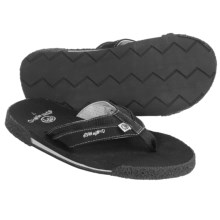 Ocean Minded Long Brothers II Sandals - Leather-Hemp-Recycled Materials, Flip-Flops(For Men) in Black - Closeouts