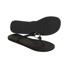Ocean Minded Manhattan Sandals - Flip-Flops (For Women) in Black - Closeouts