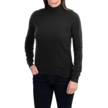 Odeon by Belford Cashmere Mock Neck Sweater (For Women) in Black - Closeouts