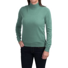 Odeon by Belford Cashmere Mock Neck Sweater (For Women) in Celedon - Closeouts