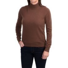 Odeon by Belford Cashmere Mock Neck Sweater (For Women) in Espresso - Closeouts