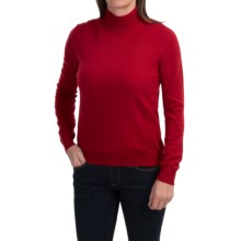 Odeon by Belford Cashmere Mock Neck Sweater (For Women) in Garnet - Closeouts