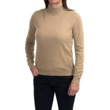 Odeon by Belford Cashmere Mock Neck Sweater (For Women) in Sand - Closeouts