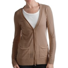 Odeon by Belford Cotton Cardigan Sweater (For Women) in Camel - Closeouts