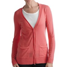 Odeon by Belford Cotton Cardigan Sweater (For Women) in Coral - Closeouts
