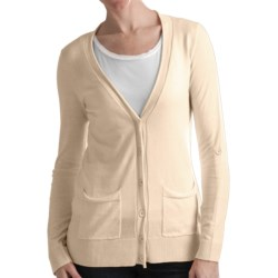 Odeon by Belford Cotton Cardigan Sweater (For Women) in Cream