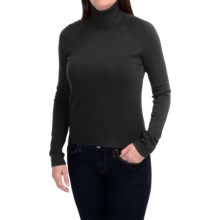 Odeon by Belford Rayon Turtleneck Sweater (For Women) in Black - Closeouts