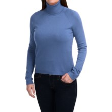 Odeon by Belford Rayon Turtleneck Sweater (For Women) in Cornflower - Closeouts