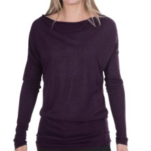 Odeon by Belford Sweater - Wool Blend (For Women) in Deep Plum - Closeouts