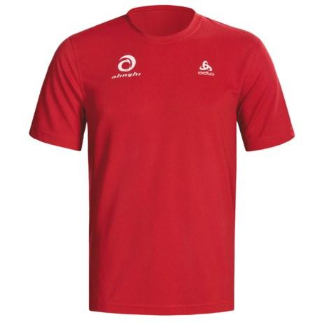 Odlo Base Layer Top - UPF 30+, Short Sleeve (For Men) in Formula One