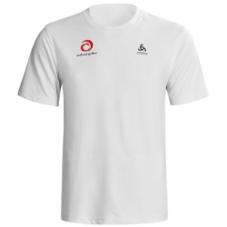 Odlo Base Layer Top - UPF 30+, Short Sleeve (For Men) in White