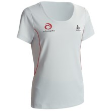 Odlo Base Layer Top - UPF 30+, Short Sleeve (For Women) in Plantina - Closeouts