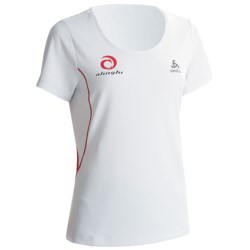 Odlo Base Layer Top - UPF 30+, Short Sleeve (For Women) in White