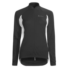 Odlo Mission Cycling Jersey - UPF 30+, Zip Neck, Long Sleeve (For Women) in Black/White - Closeouts