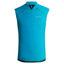 Odlo Thunder Cycling Jersey - Zip Neck, Sleeveless (For Men) in Methyl Blue - Closeouts