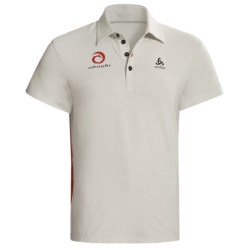 Odlo UPF 50+ Polo Shirt - Short Sleeve (For Men) in Plantina